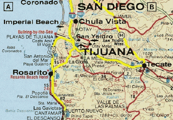 Map Of Arizona To Mexico.Clt Update Apr 18 2015 Tijuana Here I Come